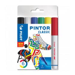 Pilot PINTOR dekoračný popisovač sada 6 ks