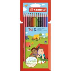 Sýto farebné trojhranné pastelky STABILO Trio